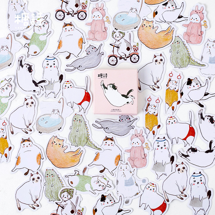 Новинка 2020, креативная лента для многих кошек, Васи, практичная бумажная Планерная наклейка, декоративная канцелярская лента, маскирующая л...(Китай)
