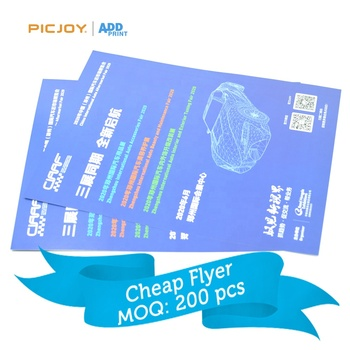 210*285mm size exhibition use advertising leaflets color printing