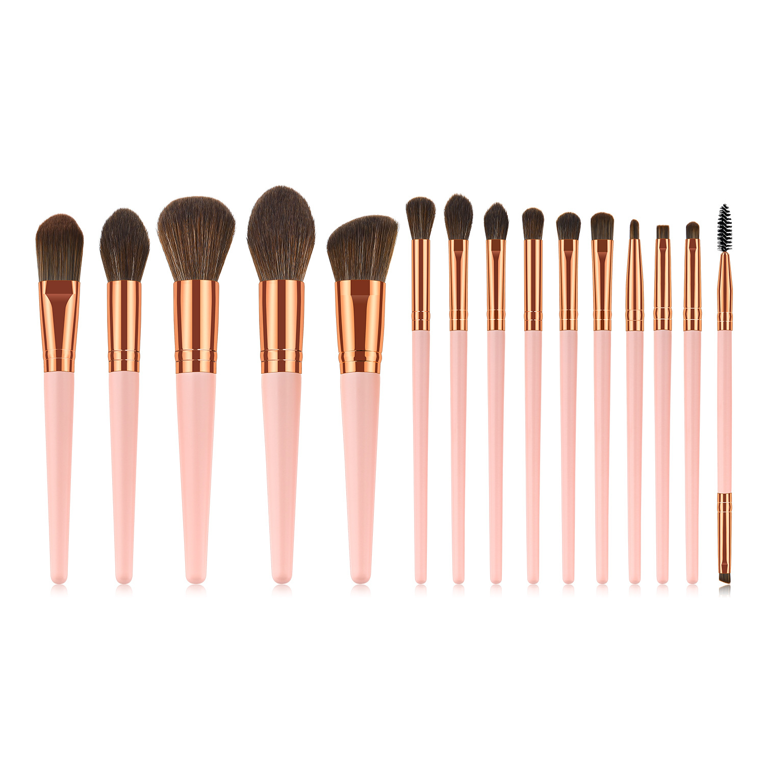 Professional <strong>high</strong> <strong>quality</strong> <strong>makeup</strong> <strong>brush</strong> 15pcs pink natural <strong>makeup</strong> <strong>brushes</strong>