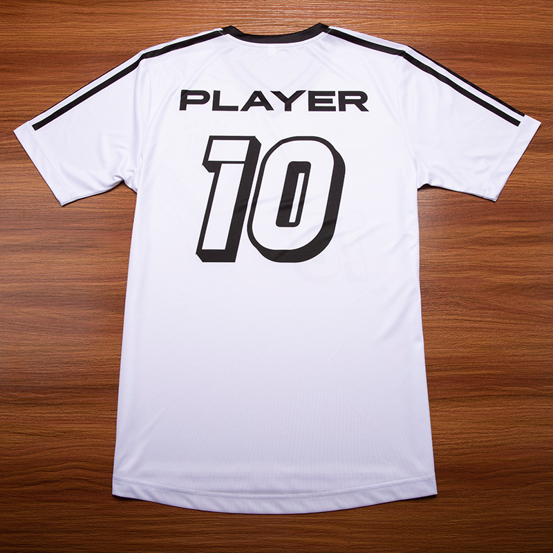 Custom White Football Jersey Soccer Wear Sportswear Type Cheap Soccer Uniforms for Team