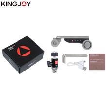 KINGJOY официальный мини-слайдер с моторизованным треком для автомобиля, панорамная шаровая Головка для телефона, камеры, ротатор для замедлен...(China)