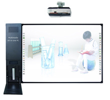 Multimedia equipment all in one interactive whiteboard with projector