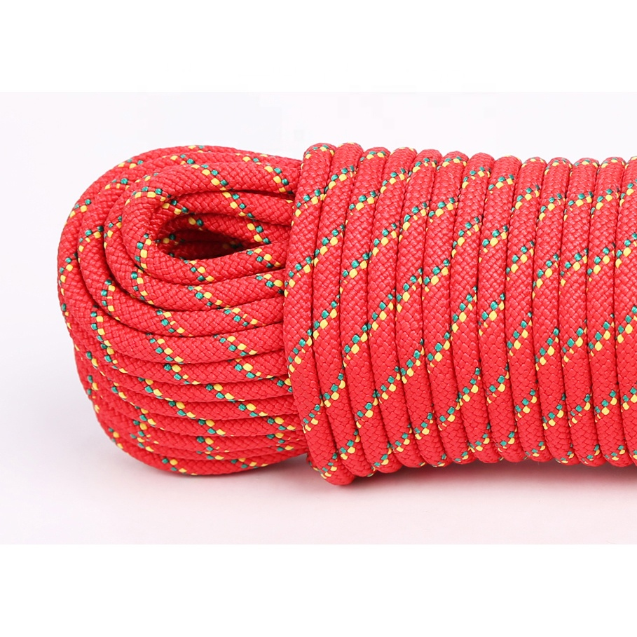 12mm durable polypropylene braided water rescuerope  pp pe polyester nylon rope cord string manufacturer
