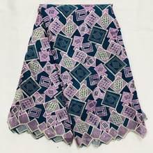 Черно-зеленая африканская нигерийская 2020 новейшая сухая кружевная ткань высокого качества, хлопковая кружевная ткань для платья, вечерние ...(Китай)