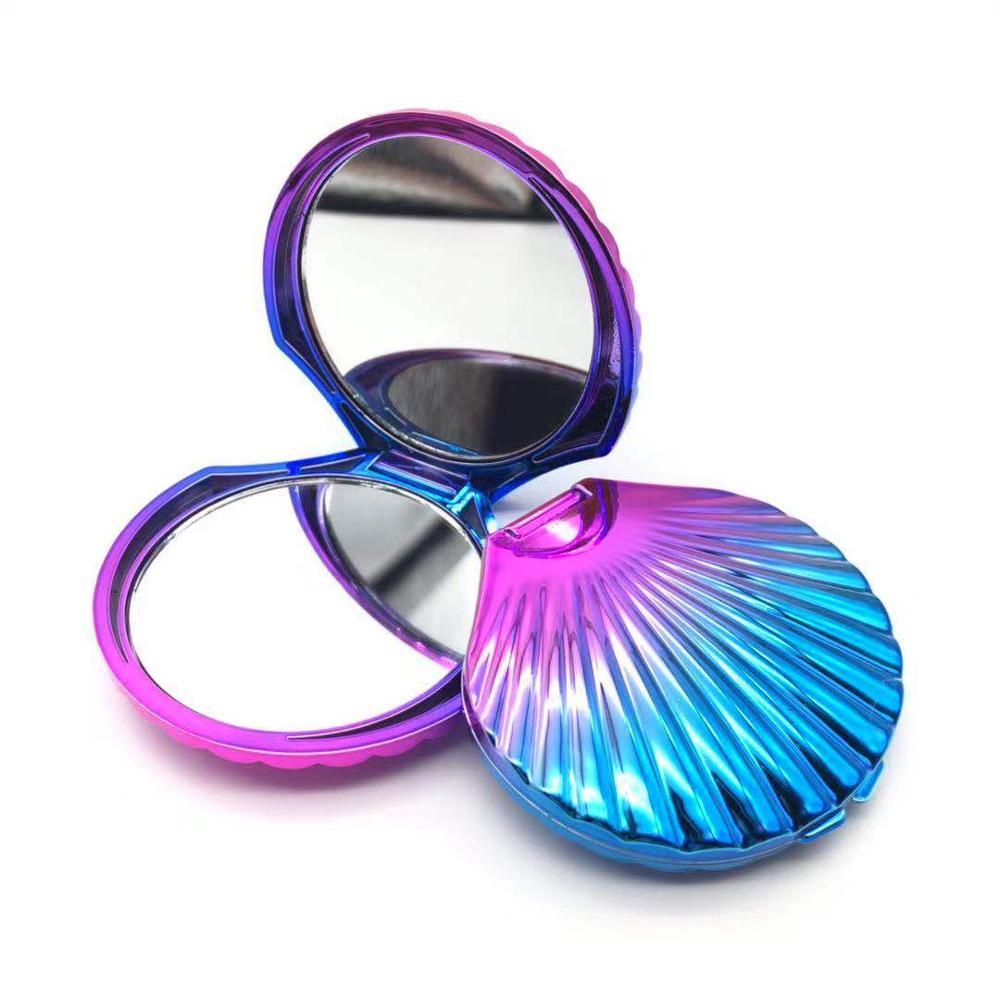Beleza presentes ofício UV shell Vaidade Maquiagem Cosméticos compact espelho espelho de bolso de Plástico