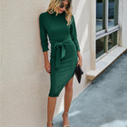Dresses Party For Fall Dresses For Women Amazon Quick Sale Autumn Fall Casual Dresses Women Lady Elegant Evening Party Slim Dresses For Women