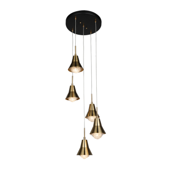 High Quality Modern Hanging Decoration Iron Black Copper Chandelier Pendant Light