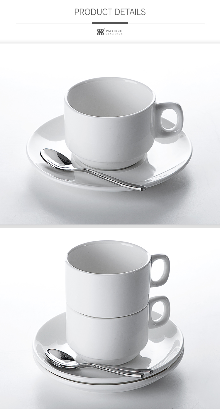 product-High Temperature Tea Cups Ceramics, Two Eight China White Tea Cups, High Quality Coffee Cups