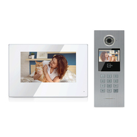 smart IP doorbell video door phone for multiple apartment intercom system to work with smartphone