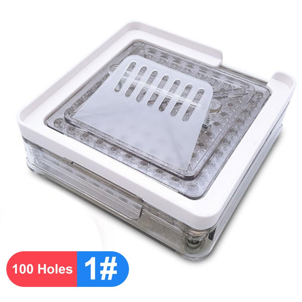 0 #00 # ABS Прозрачный акриловый материал машина для ручного наполнения капсул капсулы наполнение инструмент 100 отверстие разливочная машина(Китай)