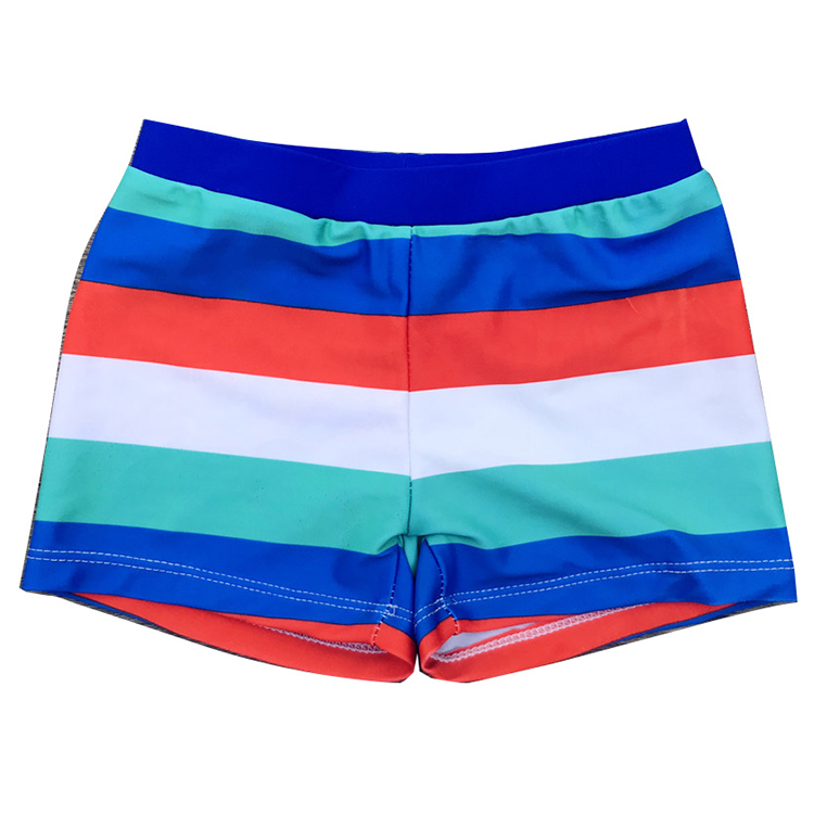 Wholesale 2-8 year old children swimwear colored striped kids swim <strong>trunks</strong> little boys boxer shorts