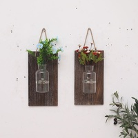 FSC wood wall decorations the flower wooden holder on the wall