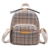 Lattice waterproof shoulder bag small woman backpack leather