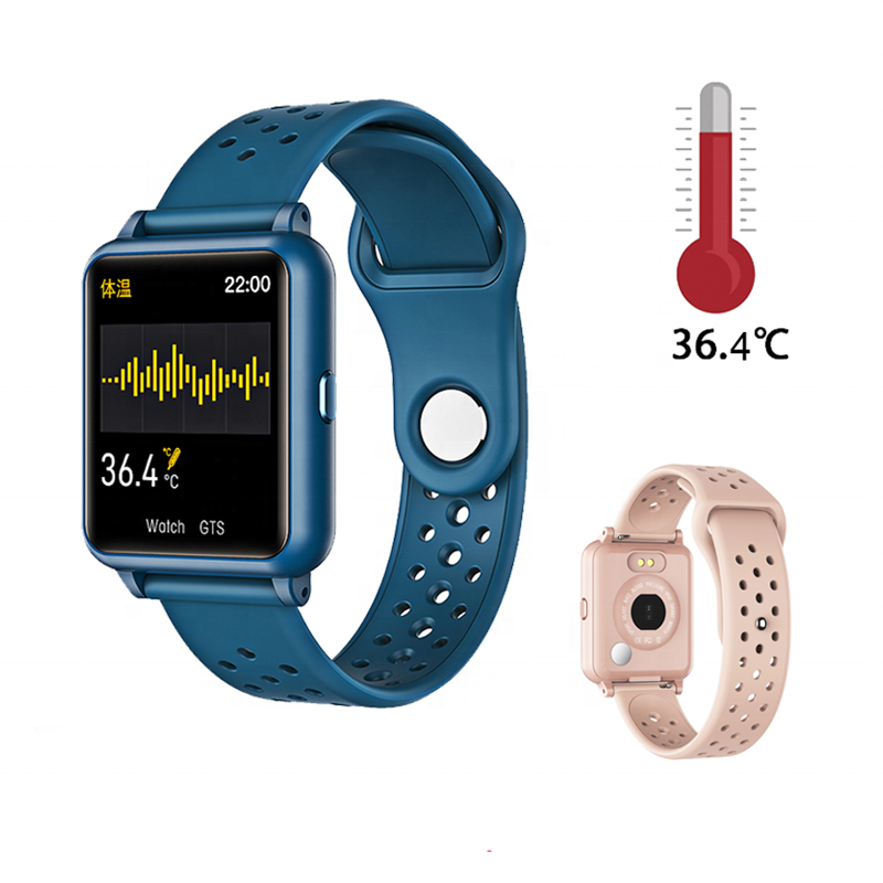 P29 T1 2020 Full Screen Touch Accurate Temperature Measuring Smart Watch