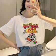 Футболка Странная история с коротким рукавом рубашка женская летняя одежда с принтом для женщин мягкая девушка Эстетическая трендовая Оде...(China)