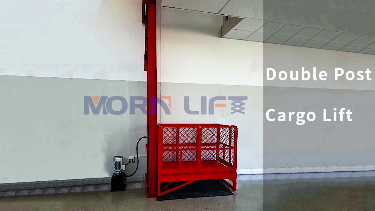 رافعة بضائع صغيرة كهربائية مورن مصعد للبضائع الهيدروليكية