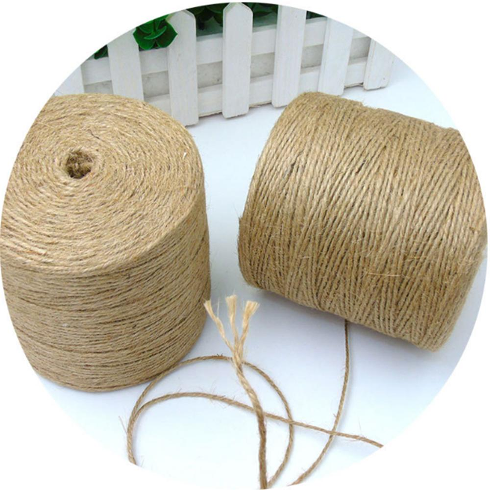 Hand made circled jute jute yarn with high tenacity for crafts