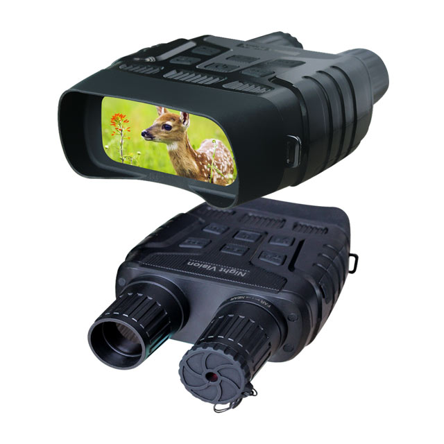 GoldPaddy Digital Infrared Night Vision Binoculars Scope for 100% Darkness Record HD Image