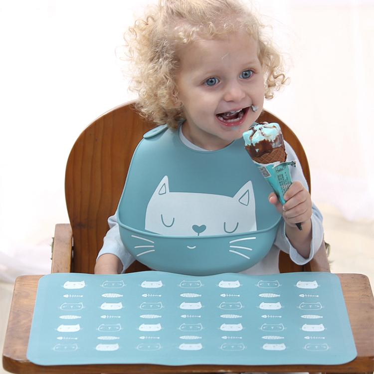 ร้อนขายใหม่ผลิตภัณฑ์ CUSTOM ซิลิโคนกันน้ำเด็ก Drool Bib