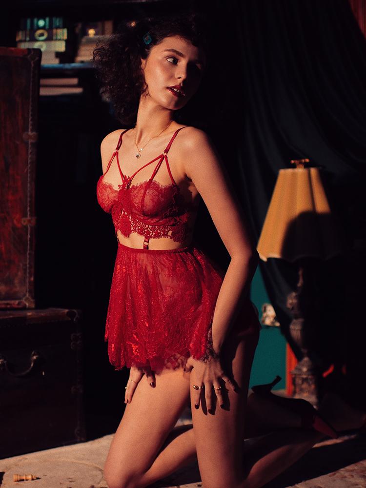 Женский прозрачный короткий бюстгальтер, нижнее белье, наборы, y-образный регулируемый плечевой ремень, сексуальный кружевной бюстгальтер ...(Китай)