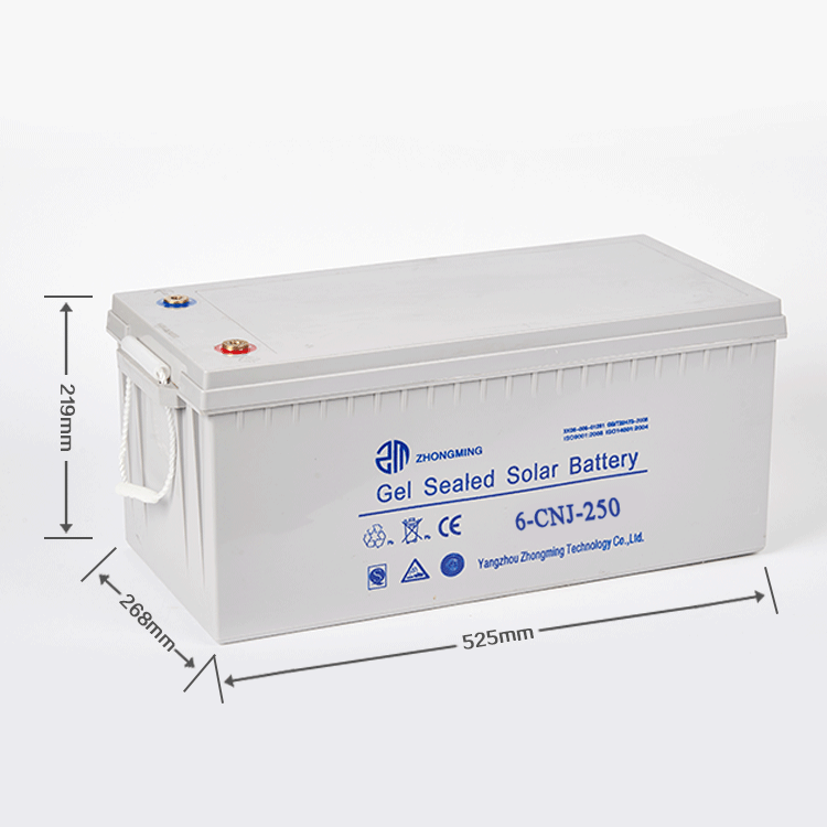 Long life deep cycle AGM solar battery 12v 250ah gel battery price