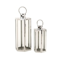 Outdoor Decoration Stainless steel candle lanterns candle lantern