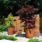 Garden Pot Wholesale Factory Customization Corten Steel Big Creative Garden Galvanized Outdoor Flower Pot Planter