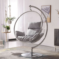 Swivel Giant Office Chair China Ball Shape leisure transparent clear hanging ball acrylic suspended bubble chair cheap