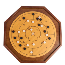 Di legno Crokinole bordo Deluxe Giochi 3 in 1 set di giochi con checker e backgammon