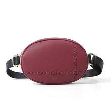 WEICHEN дизайнерская овальная нагрудная сумка, поясная сумка, женская сумка через плечо, кожаная дамская сумка на пояс, поясная сумка, сумка-кош...(Китай)