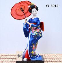 MYBLUE 30 см Kute Kawaii ручная работа кимоно японской гейши, кукла, скульптура, фигурка, украшение для дома, аксессуары, поделки, подарки(Китай)