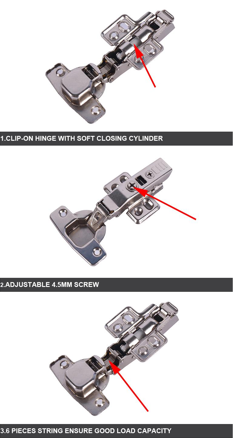 soft closing concealed hinge for furniture