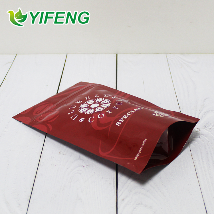 Plastic Compound Bag Stand Up Printing Printed Polybag Packaging Resealable Packet Barcode Aluminum Foil Coffee Bean Pouch