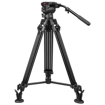 Classic Professional Heavy Duty Video Tripod  With Fluid Head Mid-Level Spreader