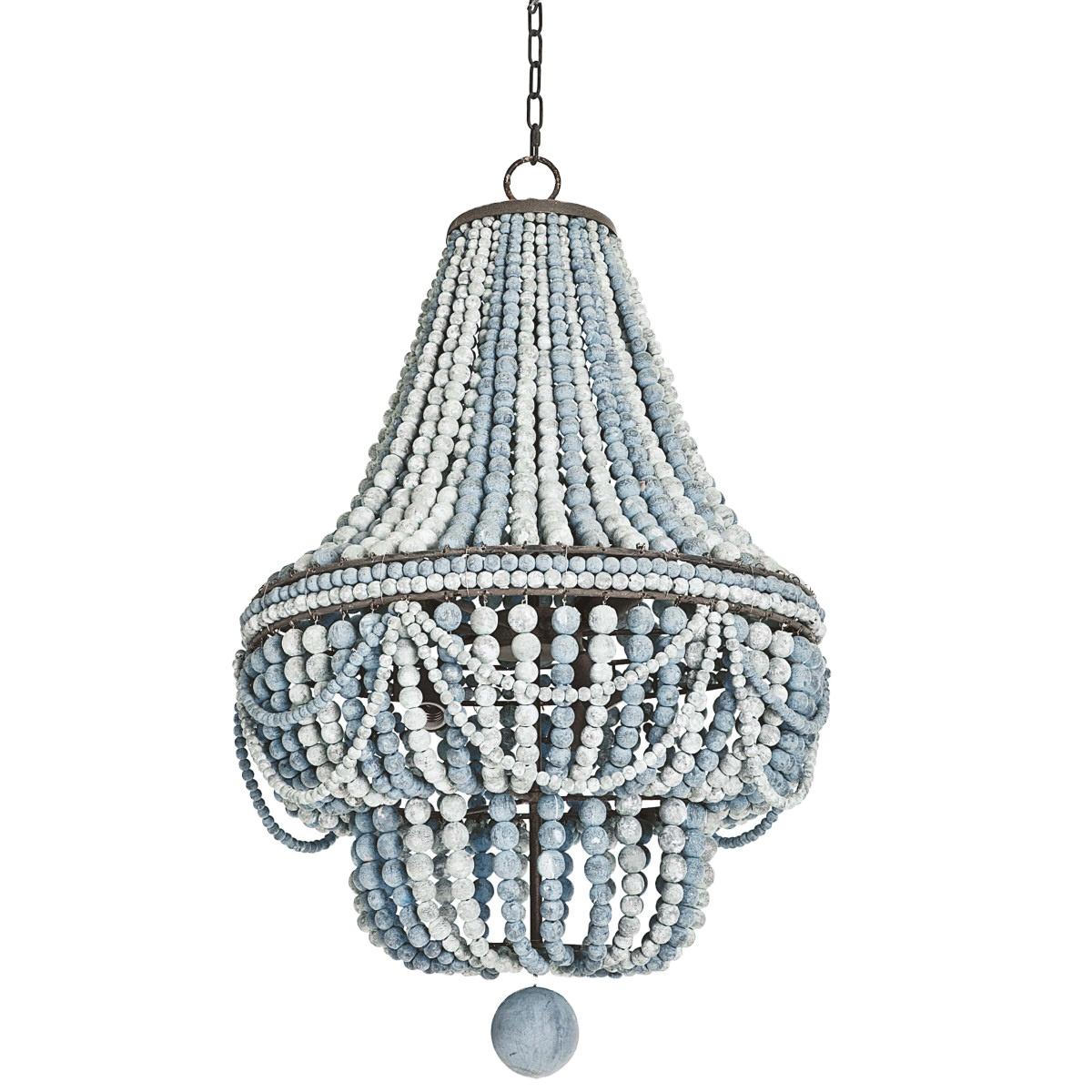 American retro old wood chandelier industrial loft style bar cafe decorative creative vintage wood beads chandelier