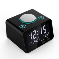Multi-function Hotel Bedside Electronic Alarm Clock Radio with Dual Port USB for Mobile Phone