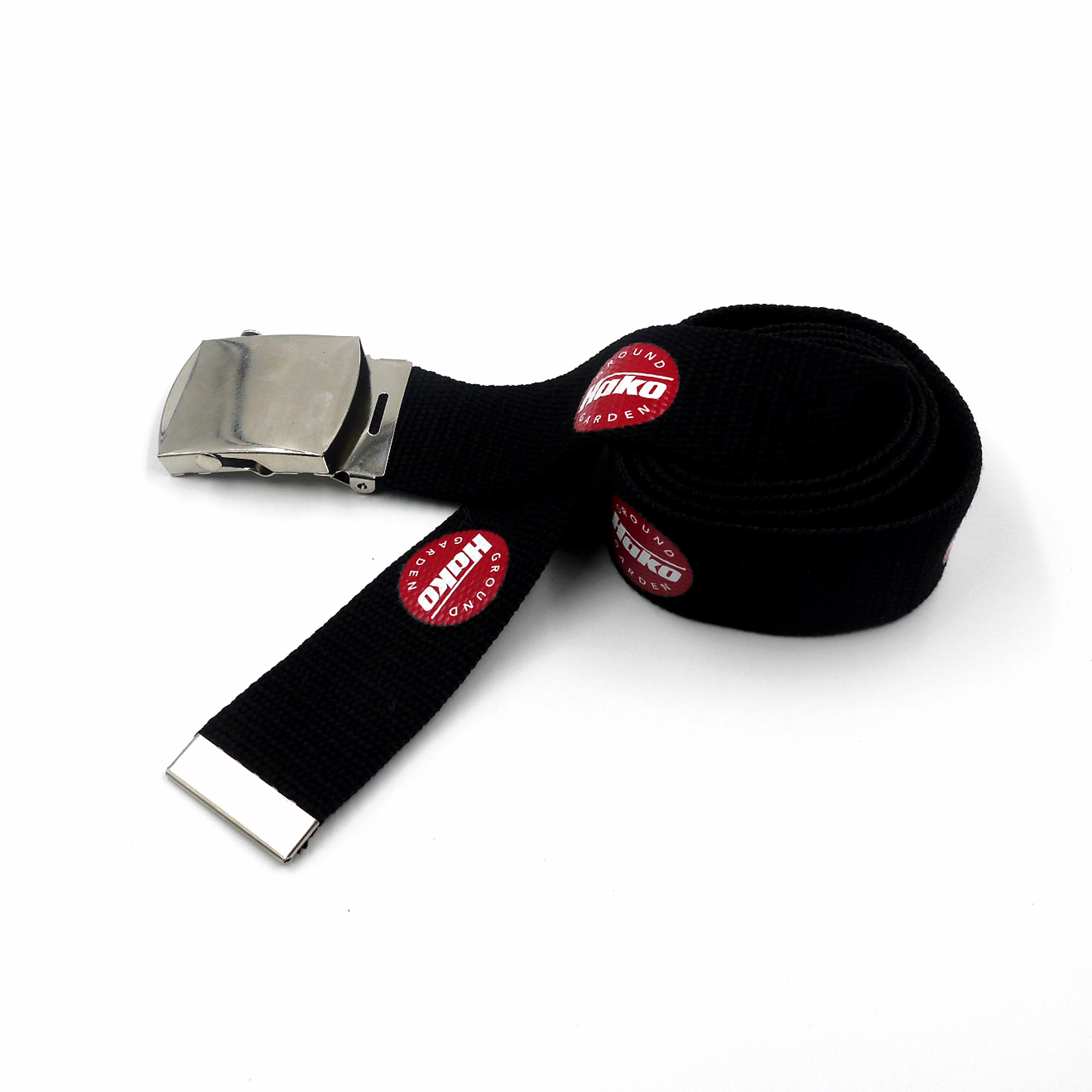 ที่กำหนดเองขายส่งMensตัวอักษรโลโก้พิมพ์ด้านบนผ้าฝ้ายผ้าใบWeb Belt