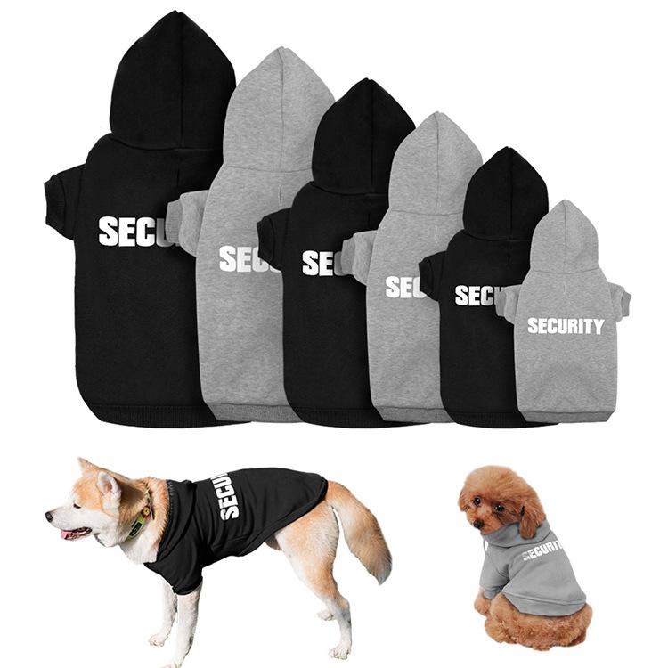 New 2020 custom OEM logo design black grey blank hoodine female dog clothes male pet clothing