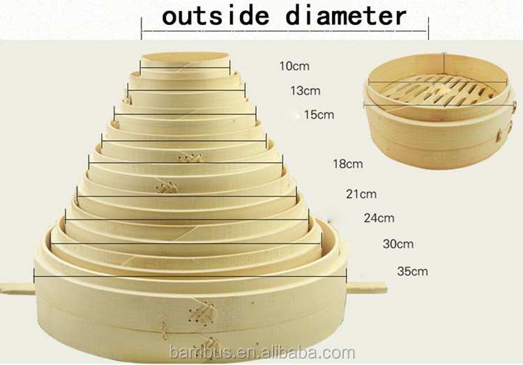 10 inch 5 layer mao bamboo steamer with cover