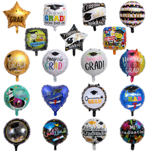 Groothandel graduation item 18 inch ronde folie <span class=keywords><strong>ballon</strong></span> opblaasbare partij decoratie folie <span class=keywords><strong>helium</strong></span> <span class=keywords><strong>ballon</strong></span>