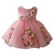 China wholesale children's clothing new flowers cotton kid floral dress for 3 year old girl dress fancy kid dress