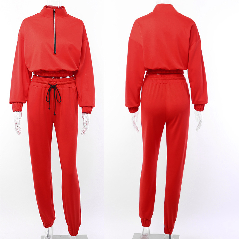 wholesale Women Joggers Sweater shirt custom track suit
