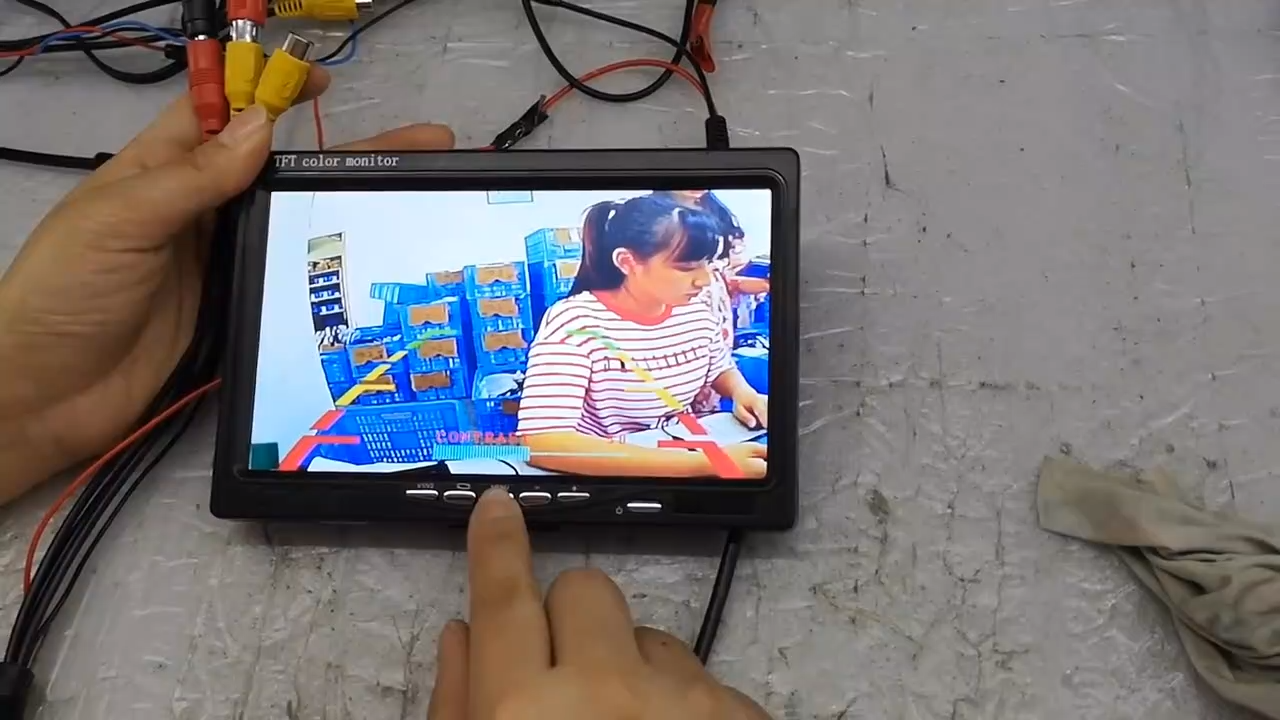 Tek başına 5 inç TFT LCD renkli araç güvenlik araç dikiz monitörü