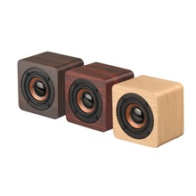 Hout Bluetooth Speaker Draagbare Mini Draadloze Bluetooth Speakers HD Stereo Geluid Rijke Bas Perfect voor Home Party Office Grijs