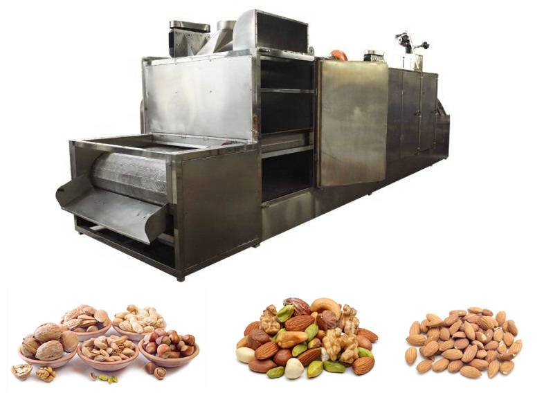 Continues chestnut toasting maize soybean grain cocoa coffee bean roasting machine peanut roaster machine