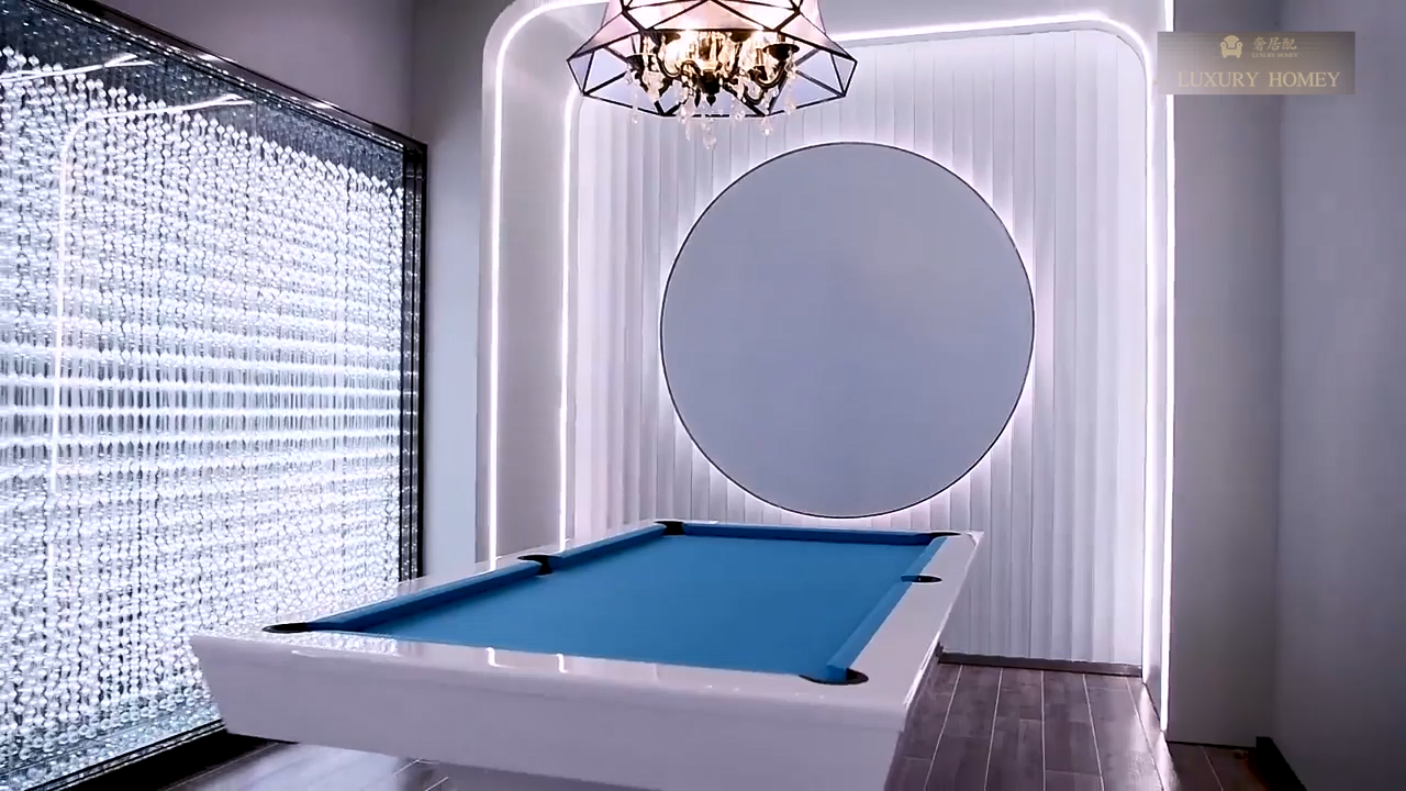 Hot sale customized American high-end modern style luxury 9ft size white billiard pool table for home furniture
