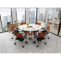 JOHOOFURNITURE Modern Wooden Glass Office Table Design 4 People Office Desk And Table
