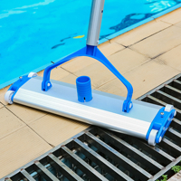 Hot sell Deluxe Aluminum Alloy 18 inch Swimming Pool Vacuum Cleaner Brushes Flexible Vacuum Head Brush Pool Accessories