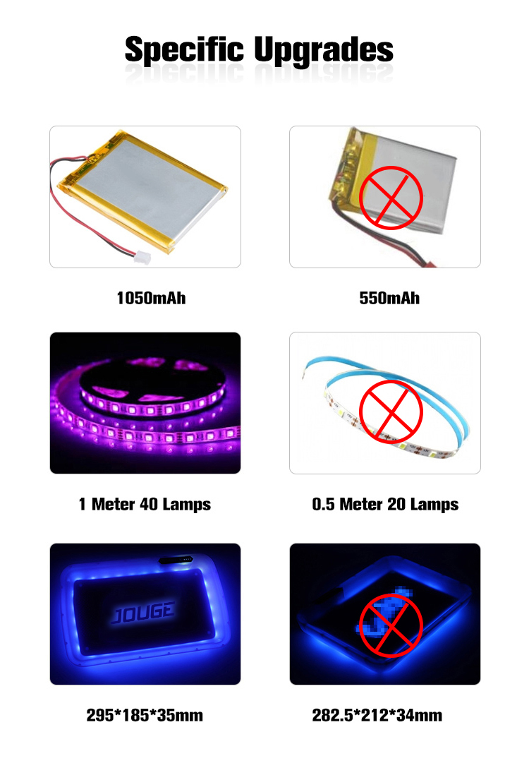 2020 Custom Led Logo Glow Tray Glow Up In The Dark Light Rolling Tray