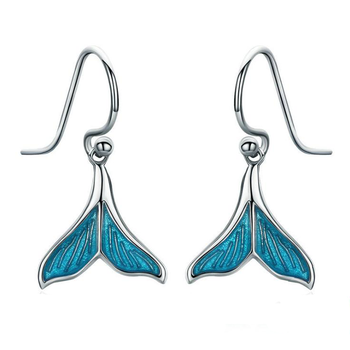 Fashion silver earrings 925 sterling silver Fish Tail Design earring hooks